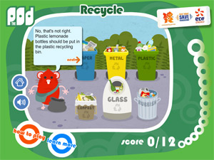 EDF Energy recycling game for kids